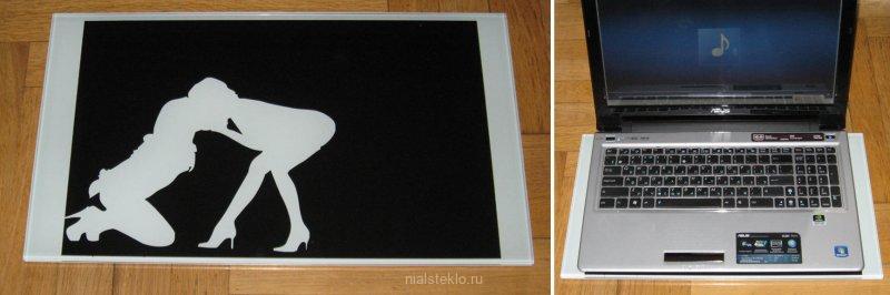 Стеклянная подставка под ноутбук