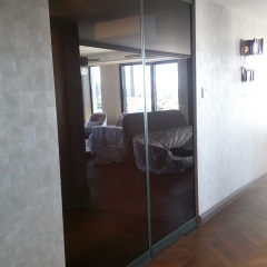 glass partition, toned in mass