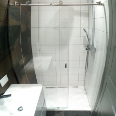 shower cabine clear vision stainless steel